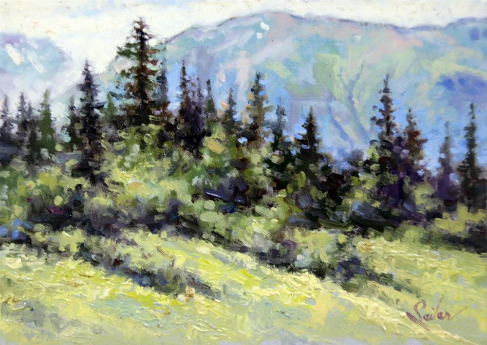 """Juneau Mountain"" original fine art by Larry Seiler"