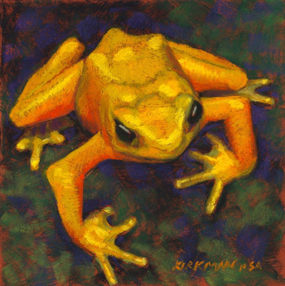 """Frog #6"" original fine art by Rita Kirkman"