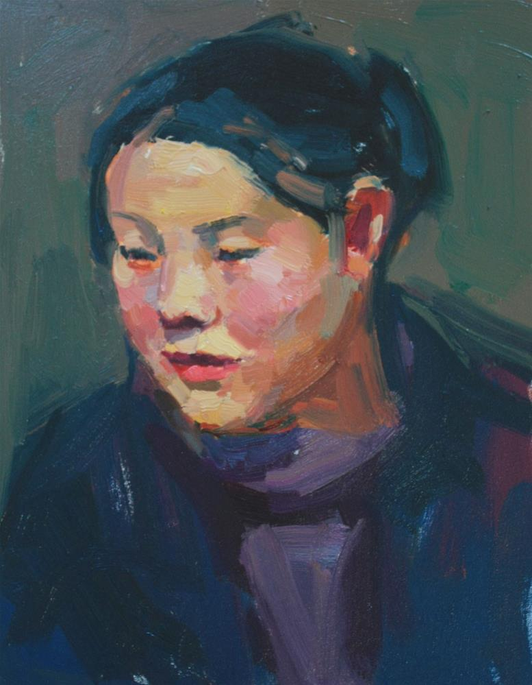 """Portrait Study #8"" original fine art by Kathryn Townsend"
