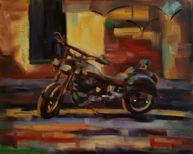 """Sergio's Ride"" original fine art by Tammie Dickerson"