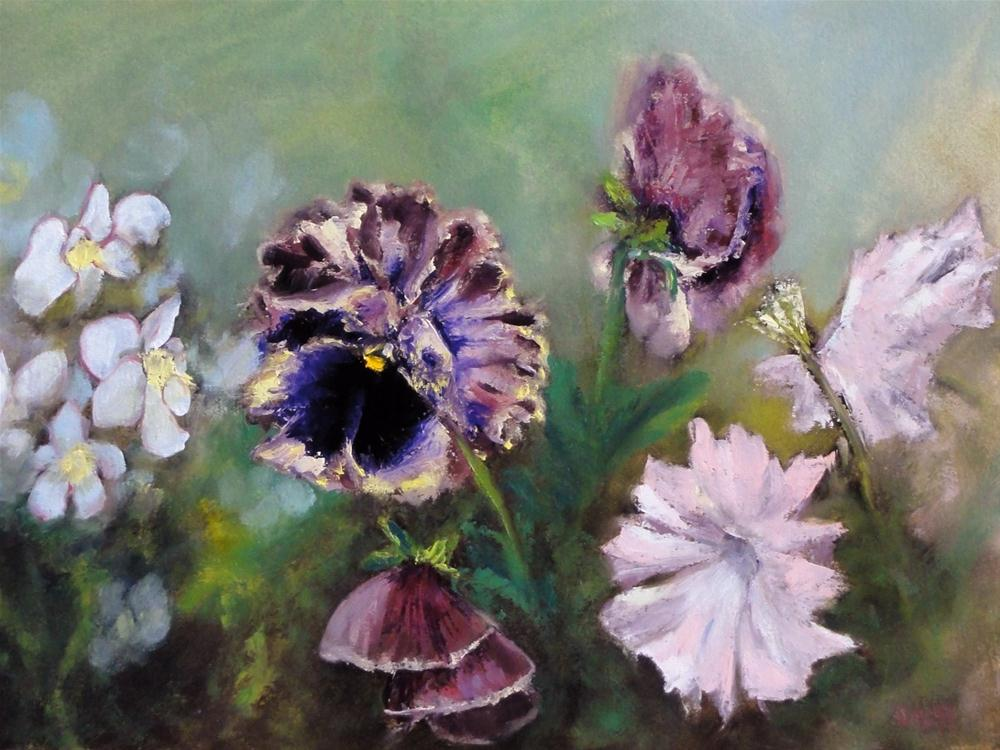 """Pansies, Petunias, And Begonias"" original fine art by Dalan Wells"