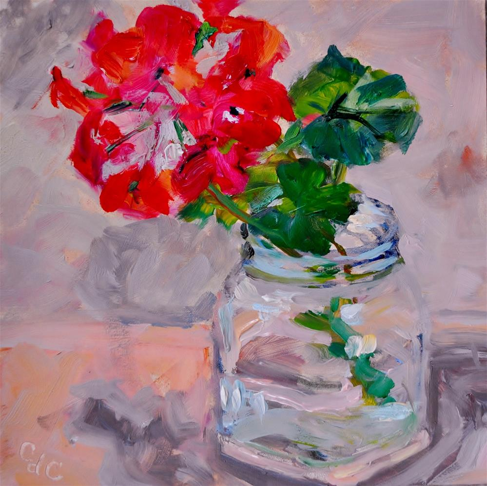 """Geranium Cutting"" original fine art by Catherine Crookston"