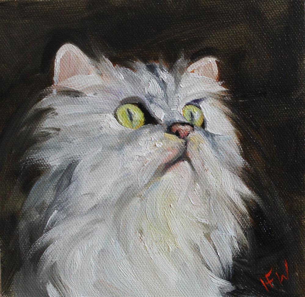 """""""Persian Kitty"""" original fine art by H.F. Wallen"""