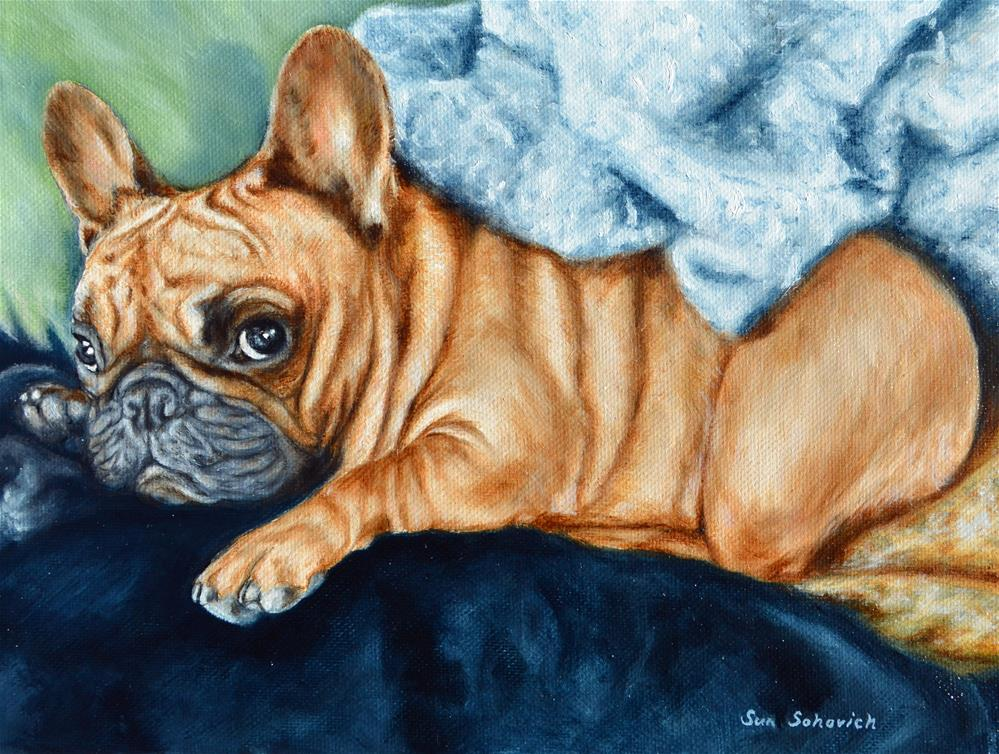 """French Bulldog"" original fine art by Sun Sohovich"
