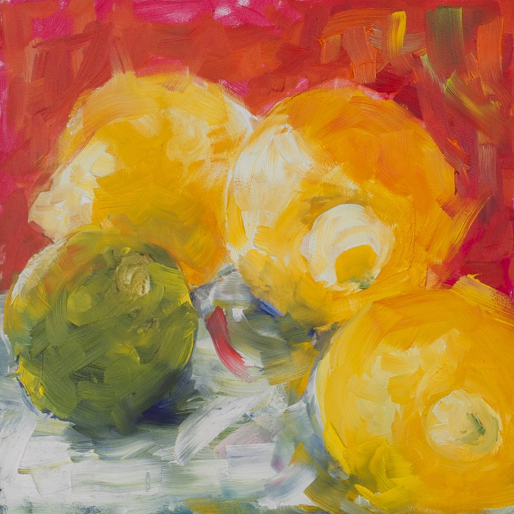 """Lemons and Lime"" original fine art by Sue Churchgrant"