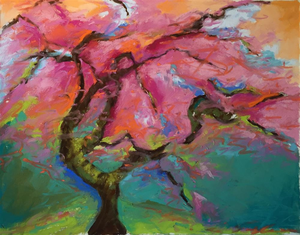 """Pink Tree"" original fine art by Sandi Miller"
