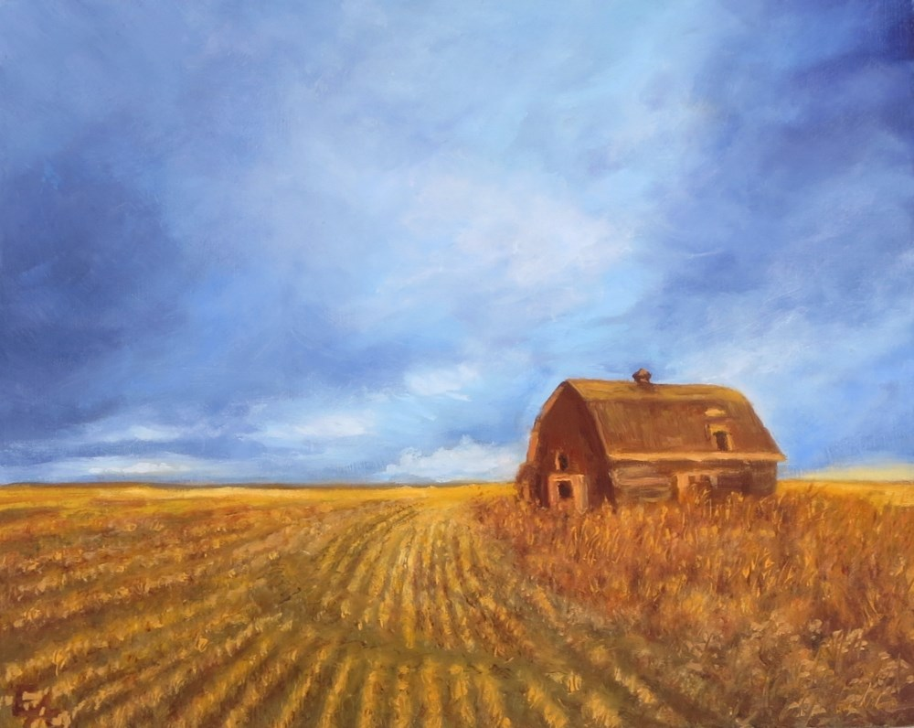 """Barn Under Big Sky"" original fine art by Elizabeth Elgin"