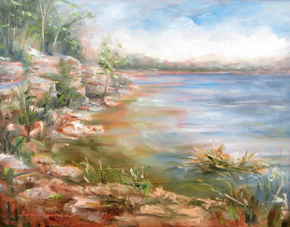 """Secluded Beach at Bailey's Harbor"" original fine art by Tammie Dickerson"