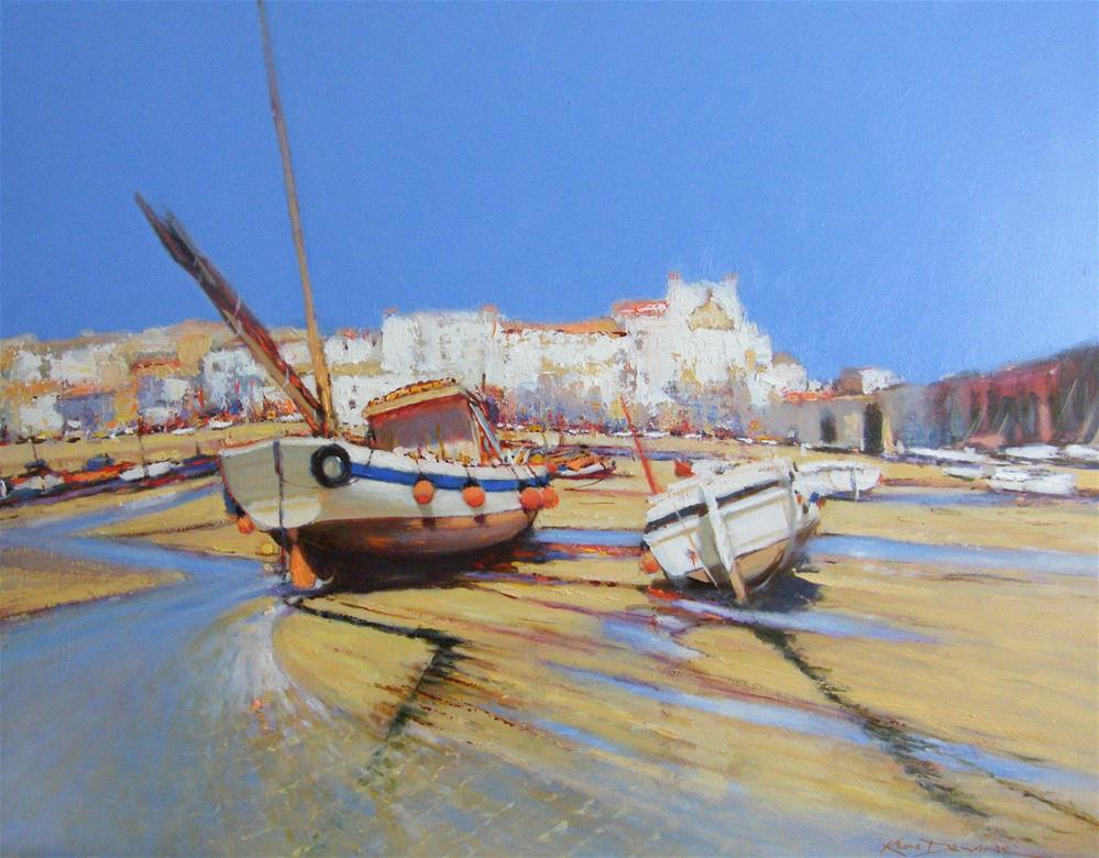 """Siesta St Ives"" original fine art by Ken Devine"