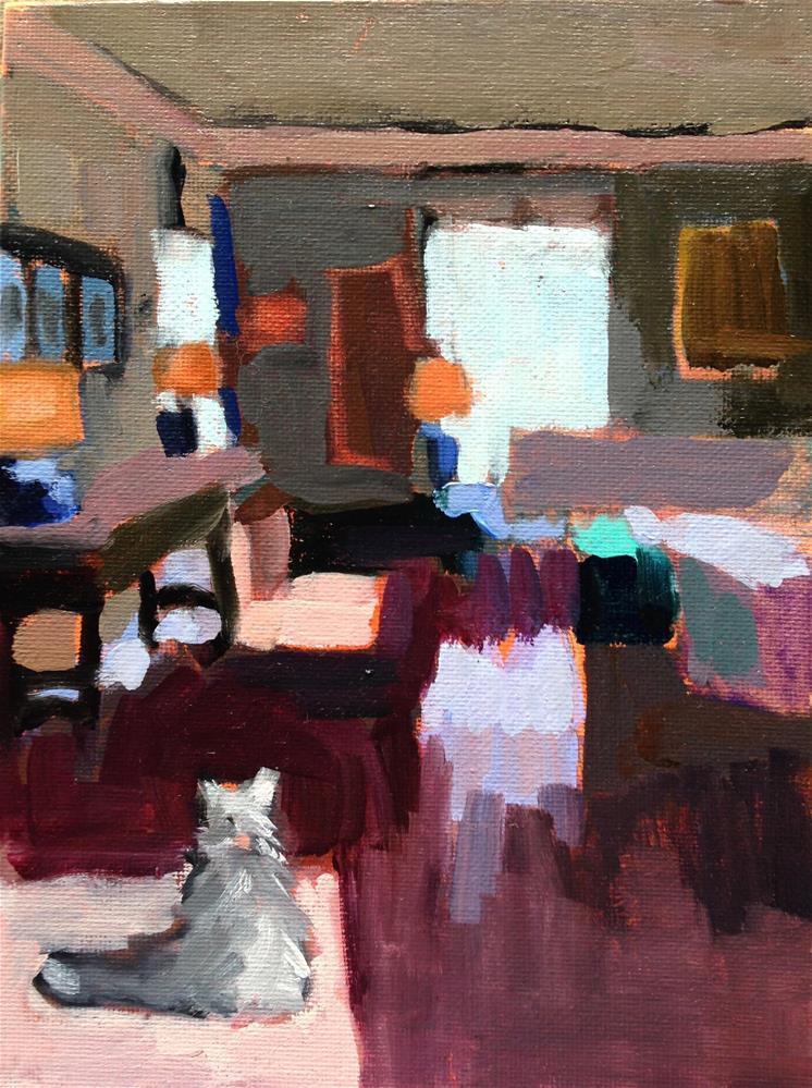 """Marmalade surveys Her Kingdom"" original fine art by Pamela Hoffmeister"