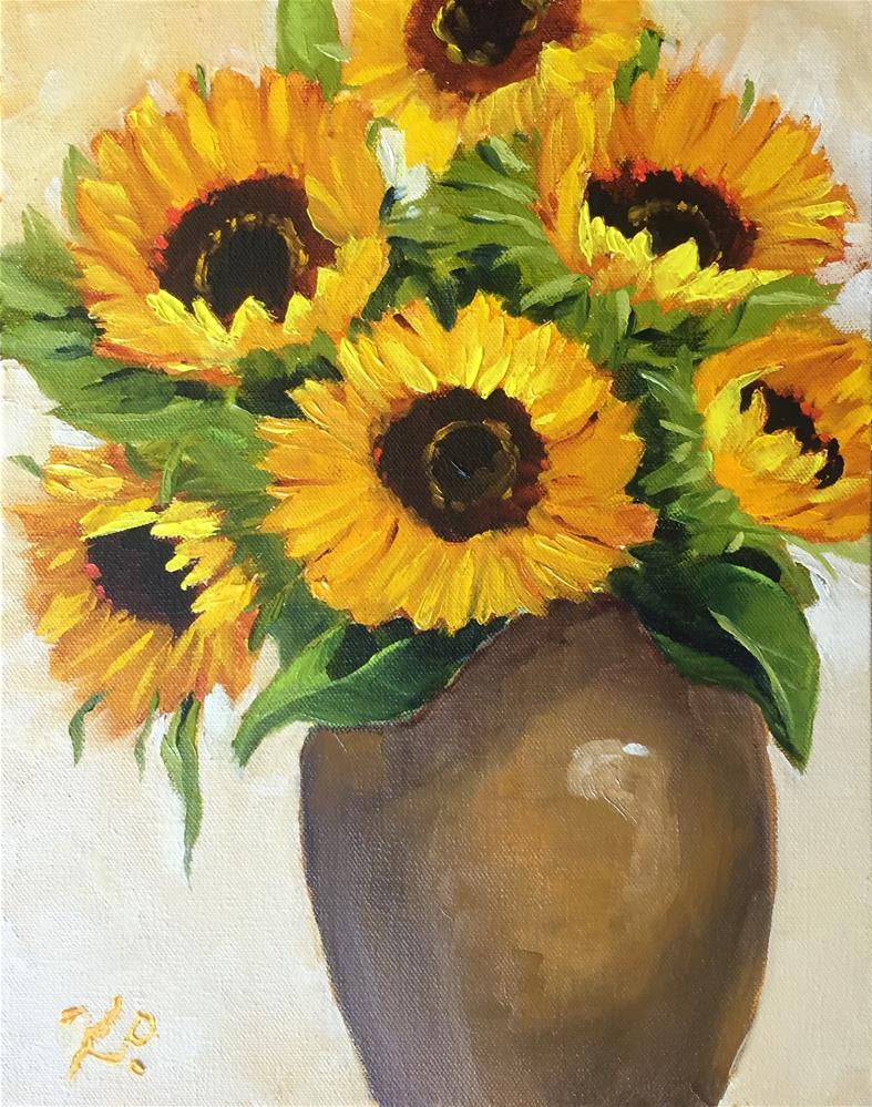 """Warm Sunflower Bouquet"" original fine art by Kim Peterson"