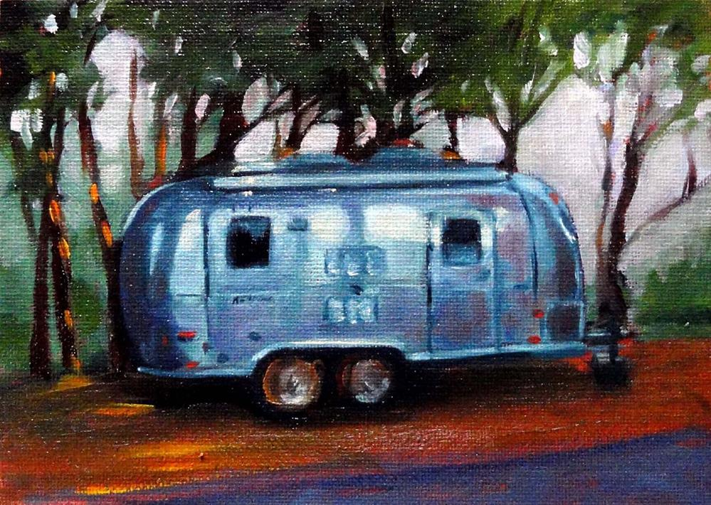 """Airstream"" original fine art by Cietha Wilson"