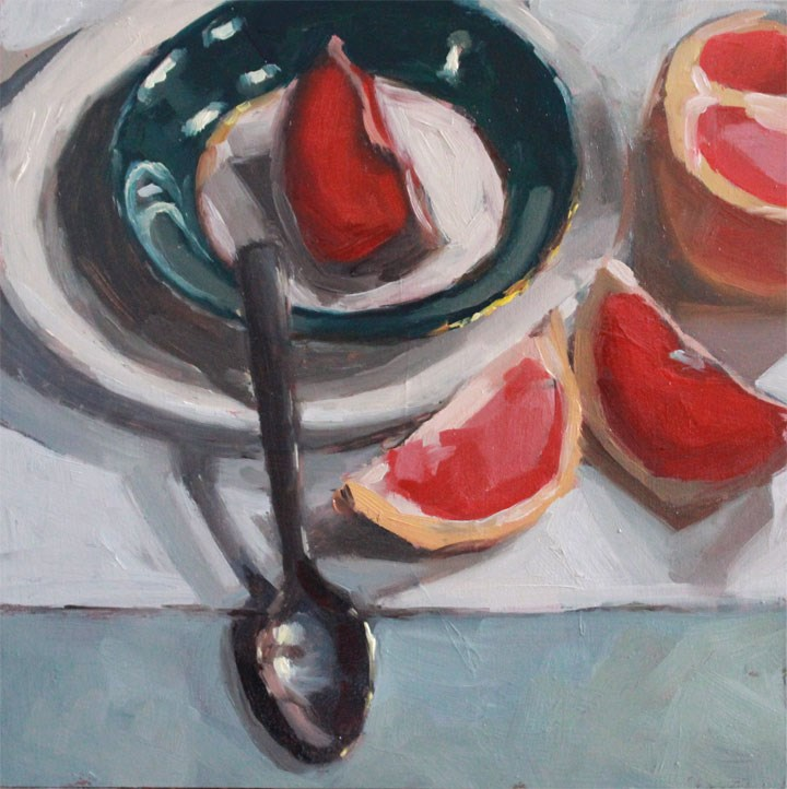 """Grapefruit Slices"" original fine art by Nealy May Riley"