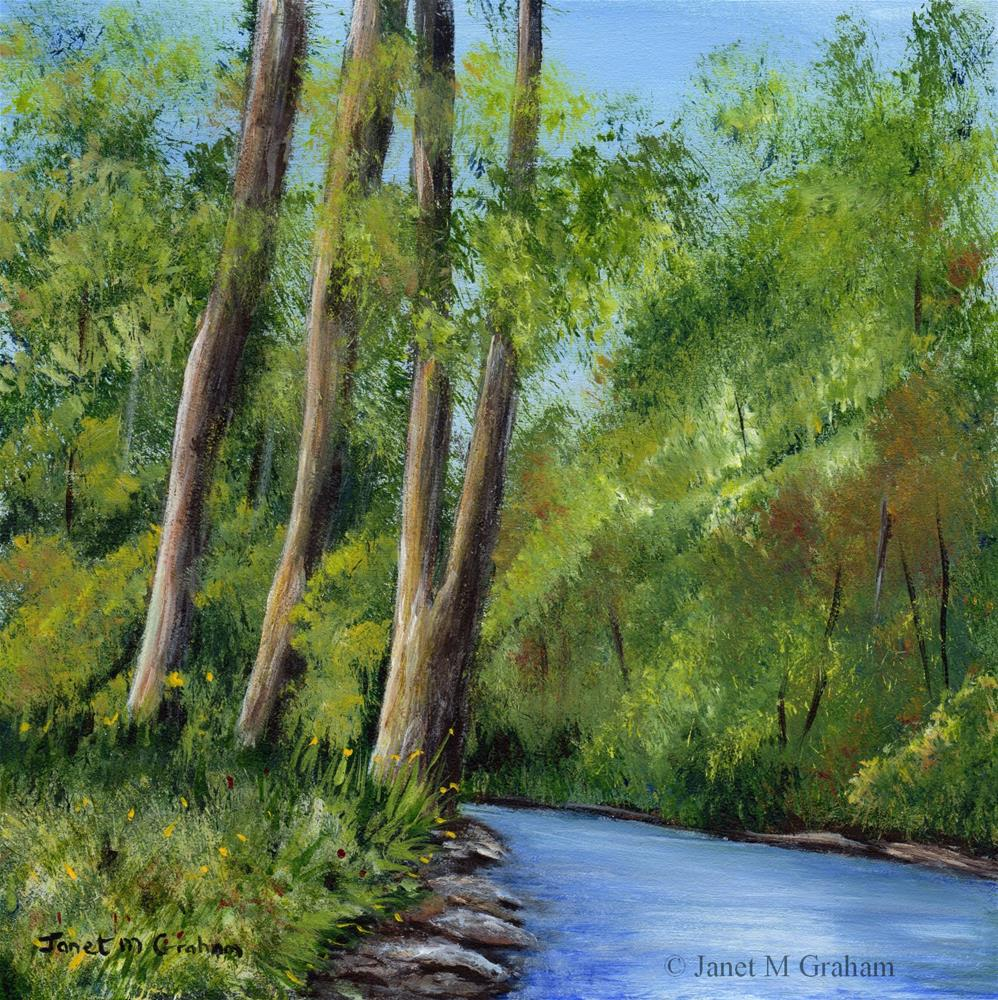 """Forest River"" original fine art by Janet Graham"