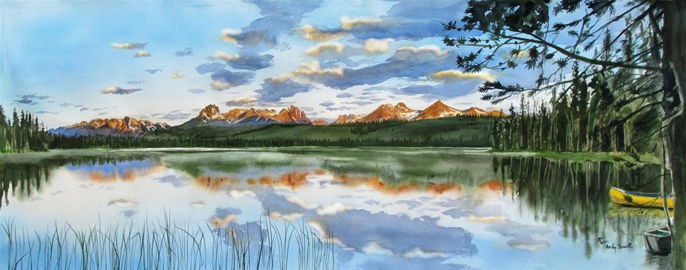 """""""Sawtooth Reflections"""" original fine art by Andy Sewell"""