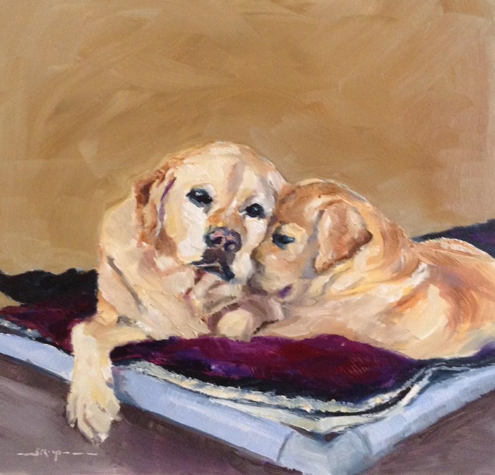 """""""The Snuggle"""" original fine art by Shelley Koopmann"""