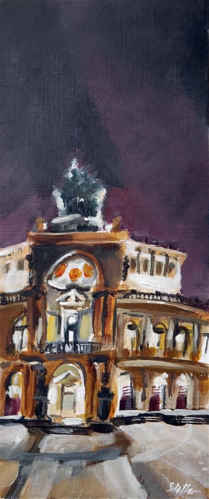 """1863 Semperoper"" original fine art by Dietmar Stiller"