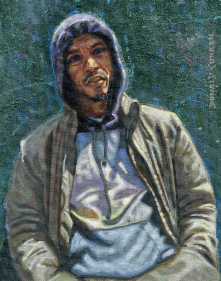 """Hoodie"" original fine art by Donald Curran"