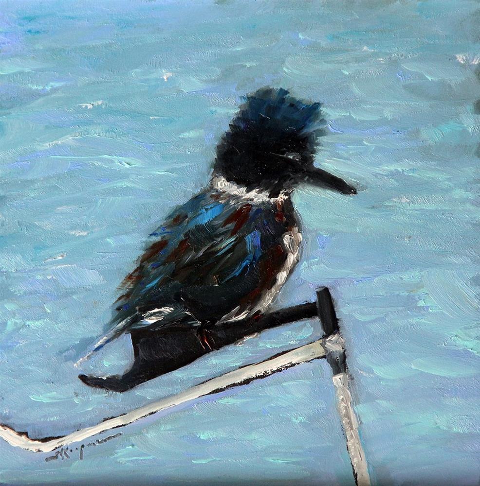 """""""Female Kingfisher"""" original fine art by Shelley Koopmann"""