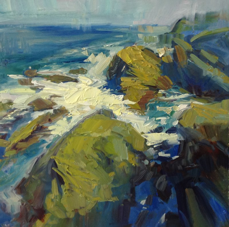 """Oregon Coast Blues and Greens"" original fine art by Patti McNutt"