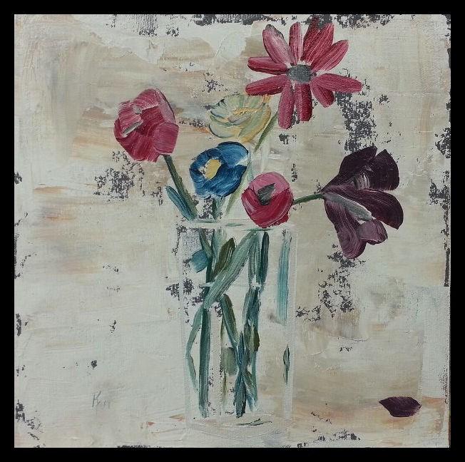 """""""Flowers For Avvy"""" original fine art by Kari Melen"""