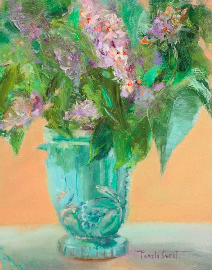 """May Lilacs"" original fine art by Pamela Sweet"