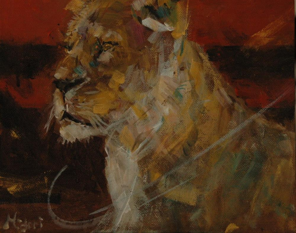"""From Al Ain Zoo"" original fine art by Midori Yoshino"