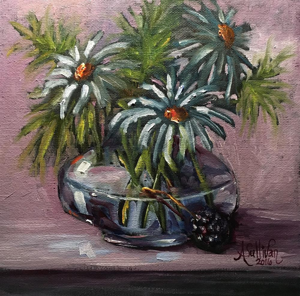 """Only One Berry still life painting by Alabama Artist Angela Sullivan"" original fine art by Angela Sullivan"