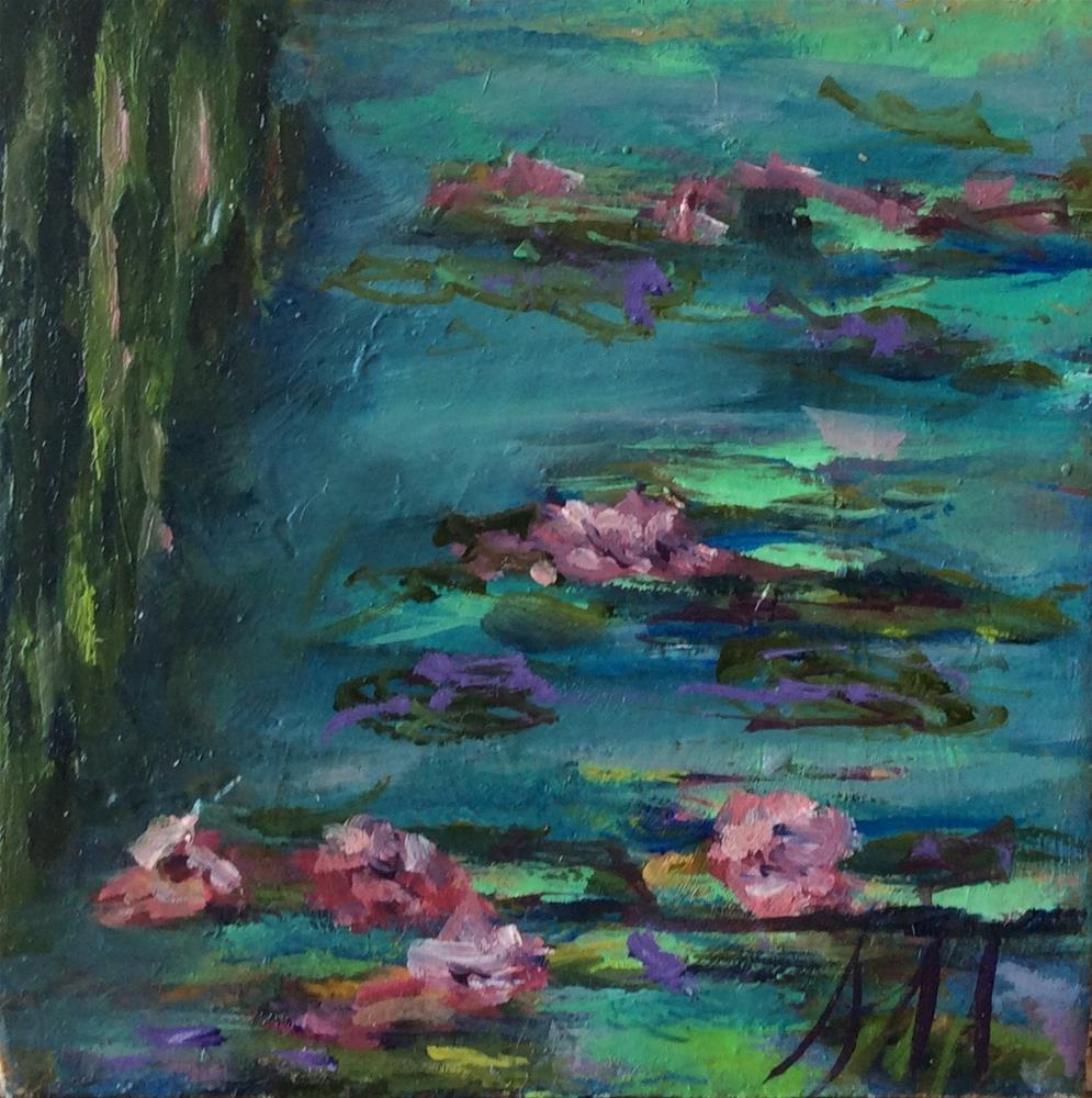 """Homage to Claude"" original fine art by Susie Monzingo"