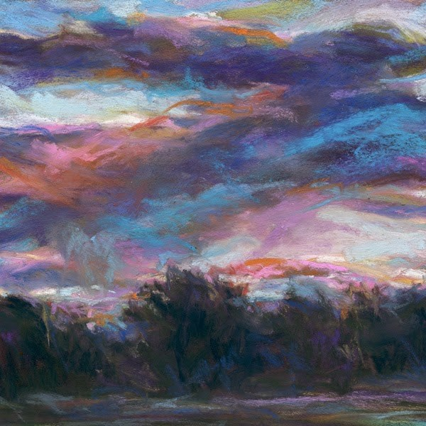 """A DREAMY MORNING - 6 x 6 landscape pastel by Susan Roden"" original fine art by Susan Roden"