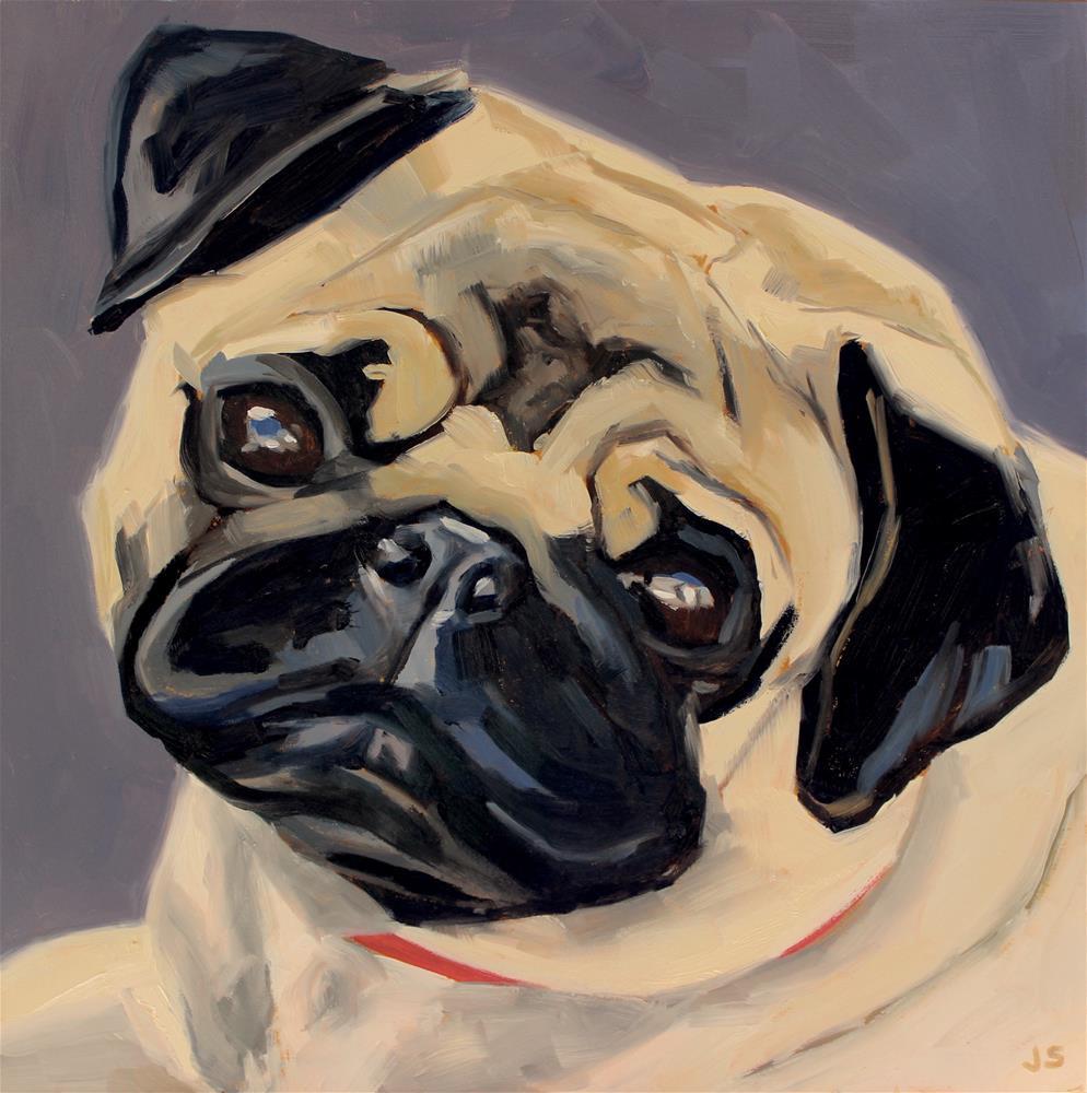 """Louie"" original fine art by Jamie Stevens"