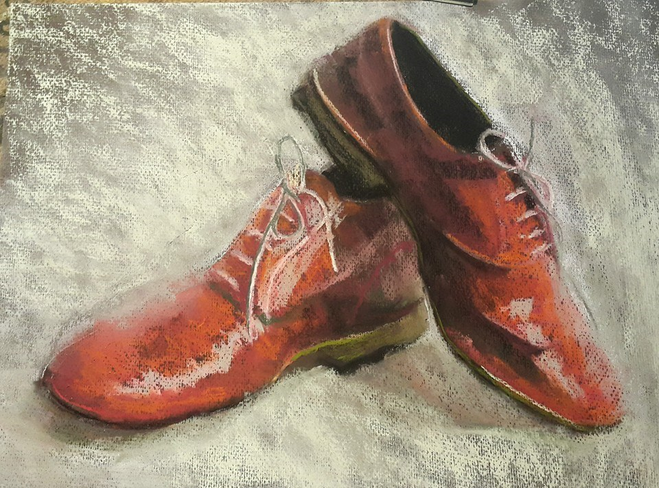 """These shoes are made for dancing!"" original fine art by Rentia Coetzee"