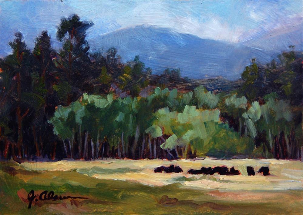 """Estes Valley Herd II"" original fine art by Gary Alsum"