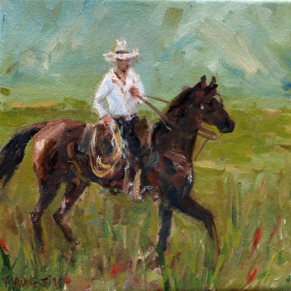 """Gettin' the cows"" original fine art by Miranda Dalessi"