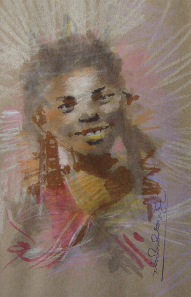 """Childhood Joys"" original fine art by Adebanji Alade"