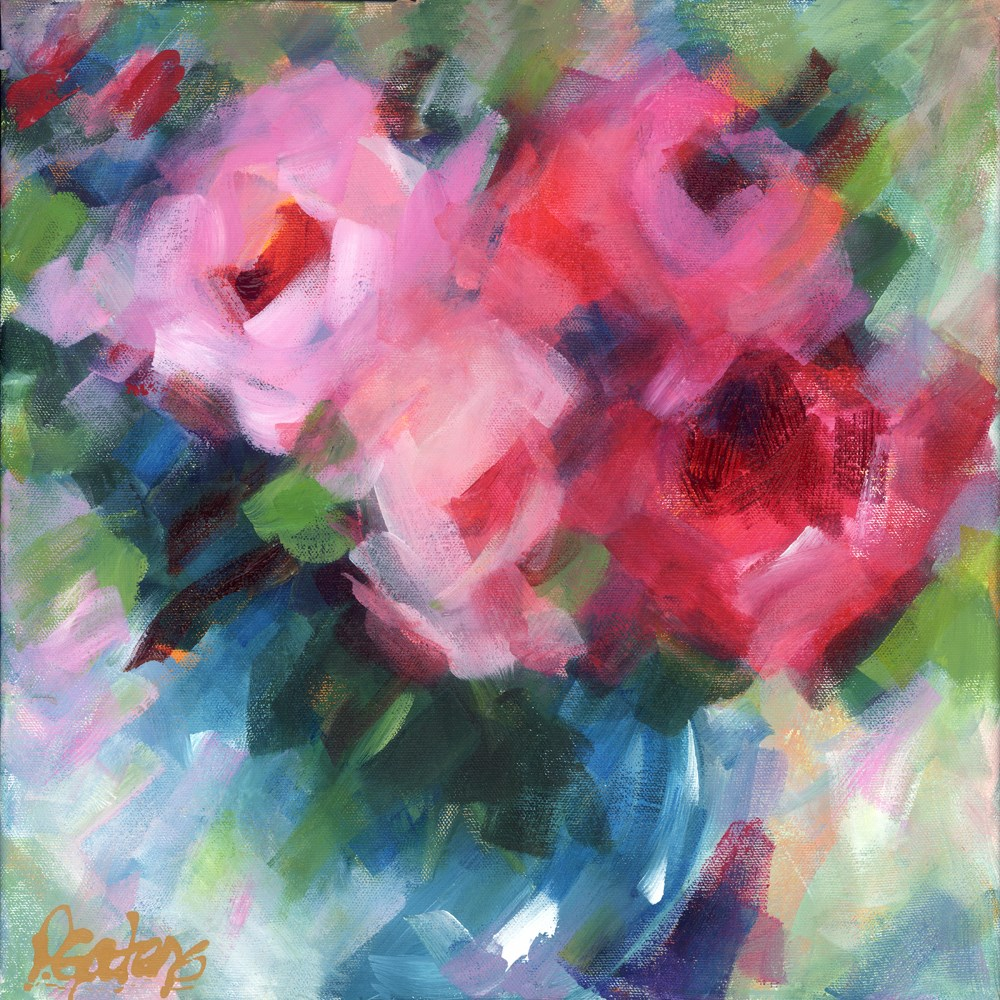 """Big Pinks"" original fine art by Pamela Gatens"