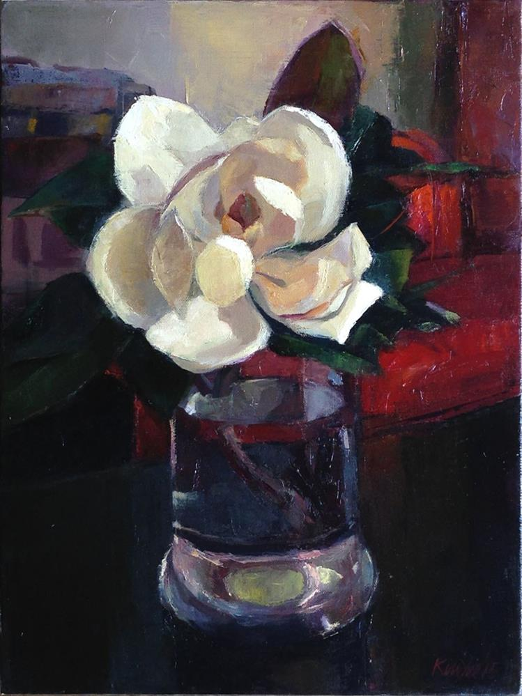 """Magnolia Tree Flower - Githa's Choice"" original fine art by Myriam Kin-Yee"