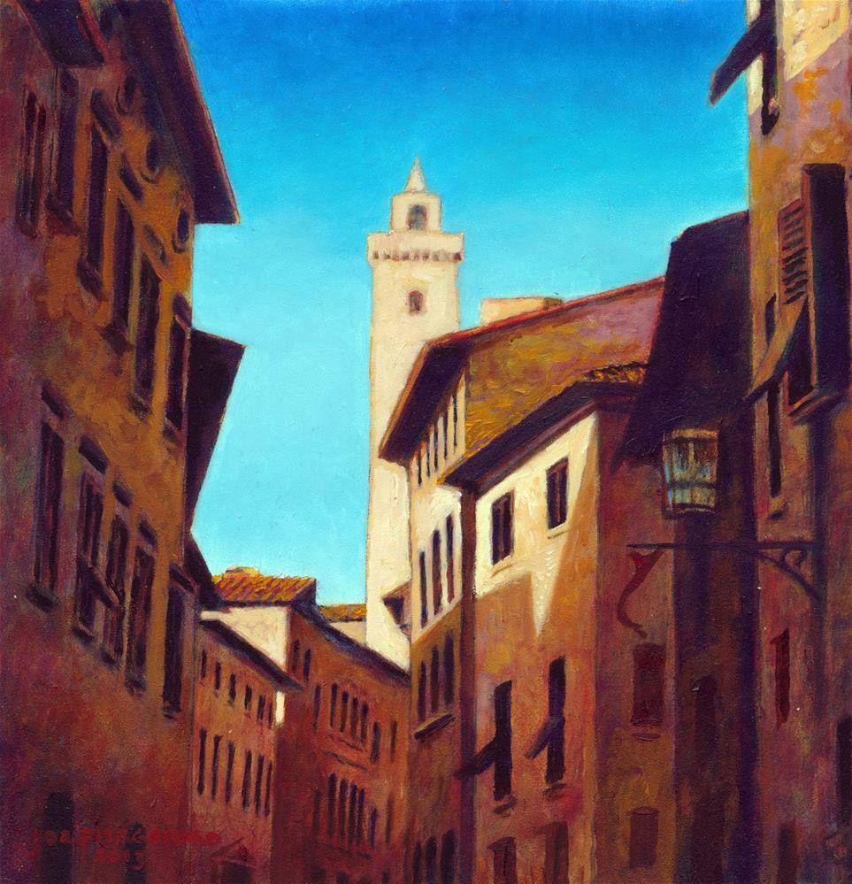 """San Gimignano"" original fine art by Joe Fitzgerald"