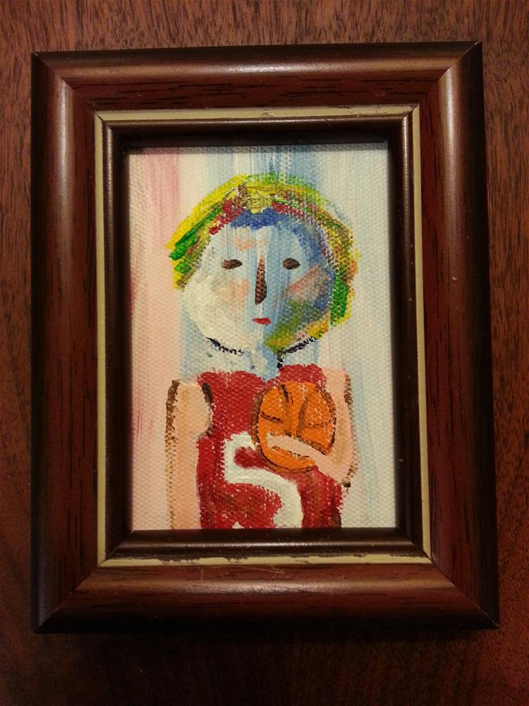 """Mini Marcie's Cousin"" original fine art by Jo Allebach"