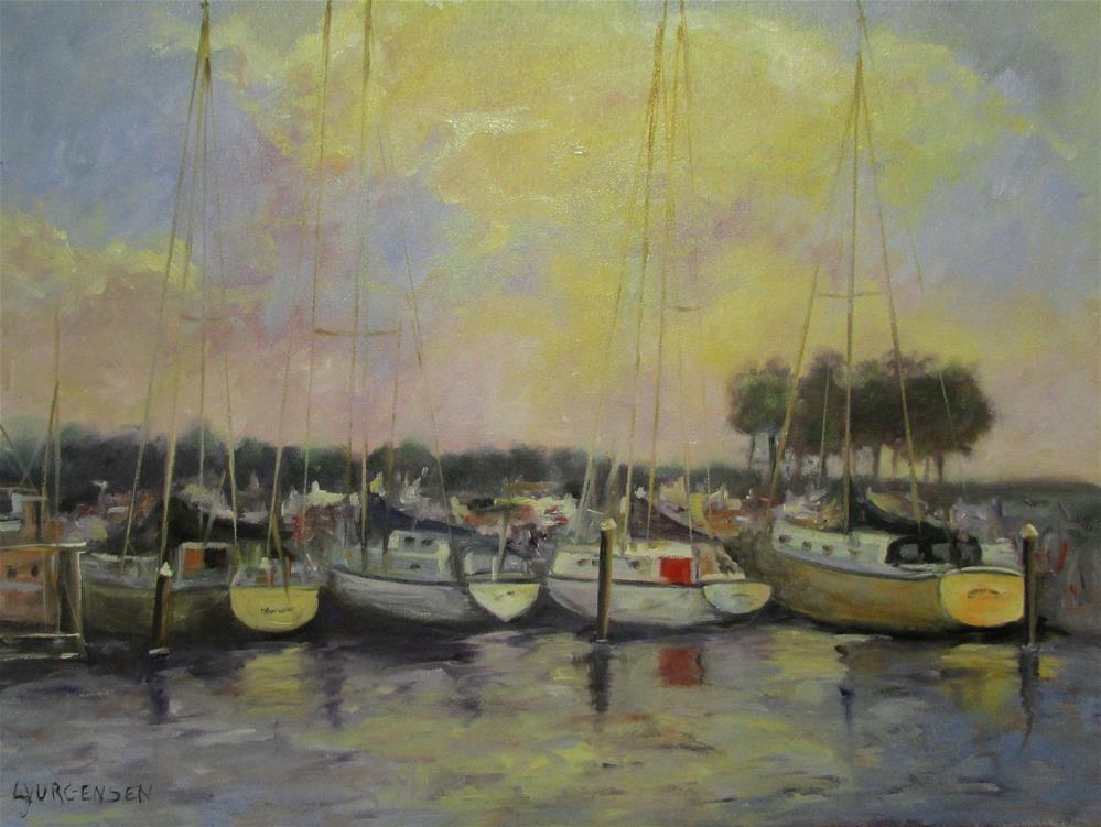 """""""18 x 24 inch oil Summer Days"""" original fine art by Linda Yurgensen"""