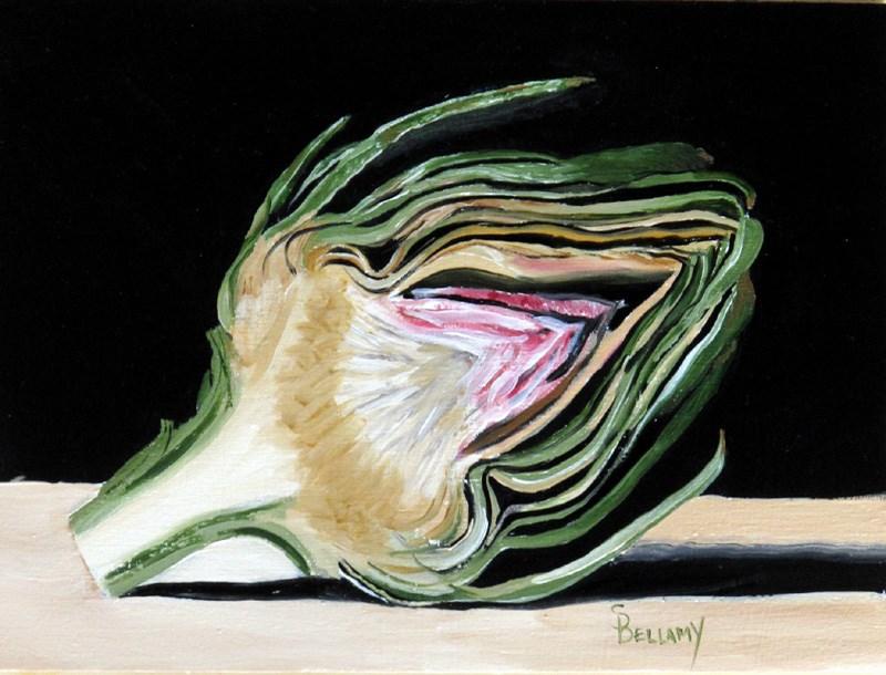 """""""Reclining Artichoke"""" original fine art by Sherry Bellamy"""
