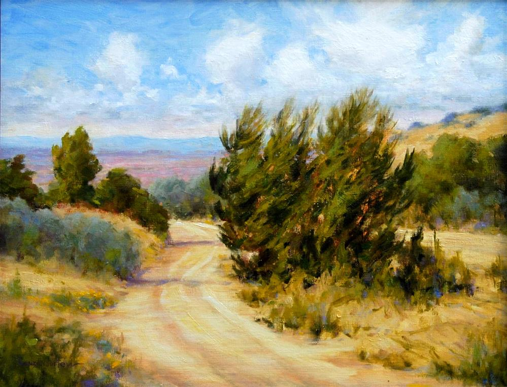 """THE ROAD LESS TRAVELED"" original fine art by Dj Lanzendorfer"