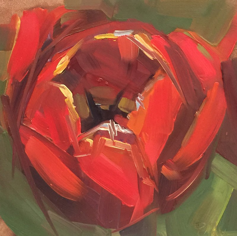 """Tulip Closeup"" original fine art by Patti McNutt"