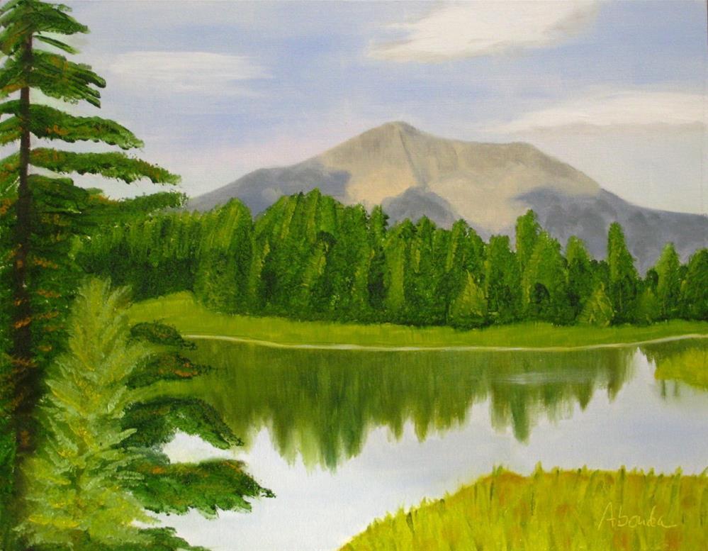 """Lone Mountain"" original fine art by Sandy Abouda"