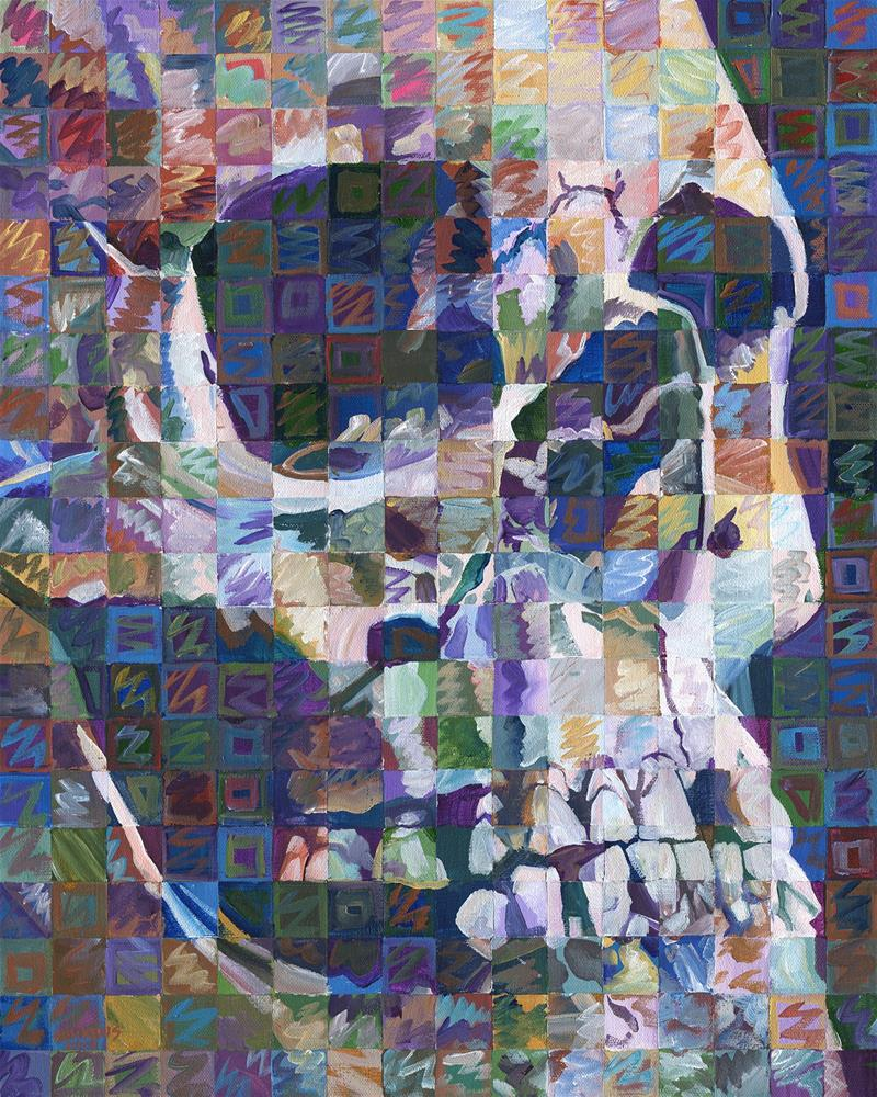 """Skull No. 2 (King Richard III)"" original fine art by Randal Huiskens"