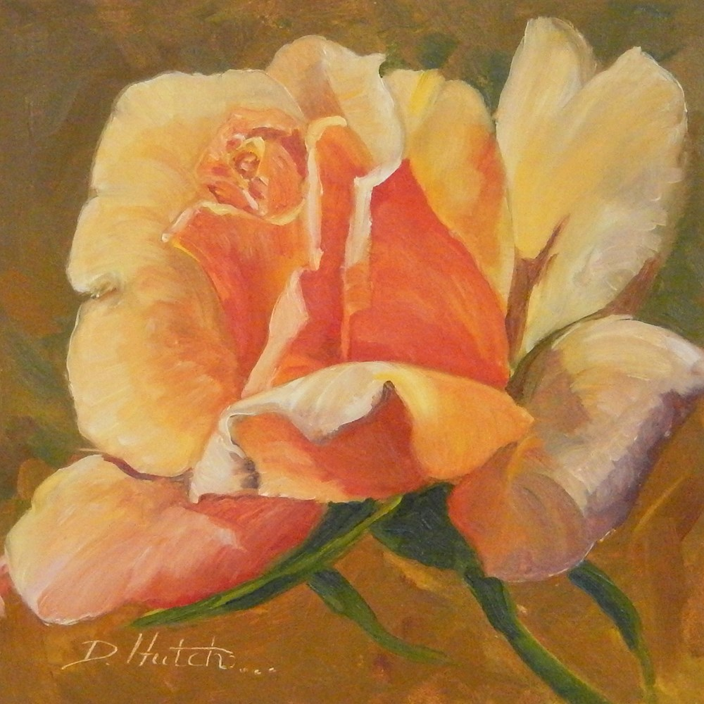 """Rose #1"" original fine art by Diane Hutchinson"