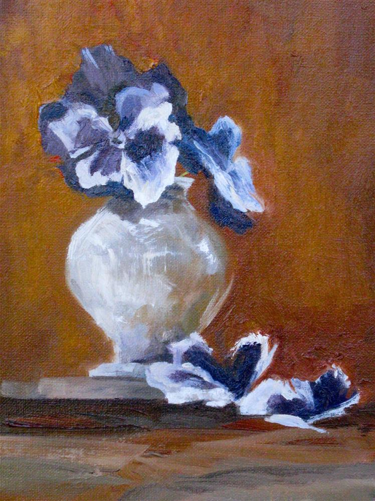 """Pansies in Southern Light"" original fine art by kay  keyes farrar"