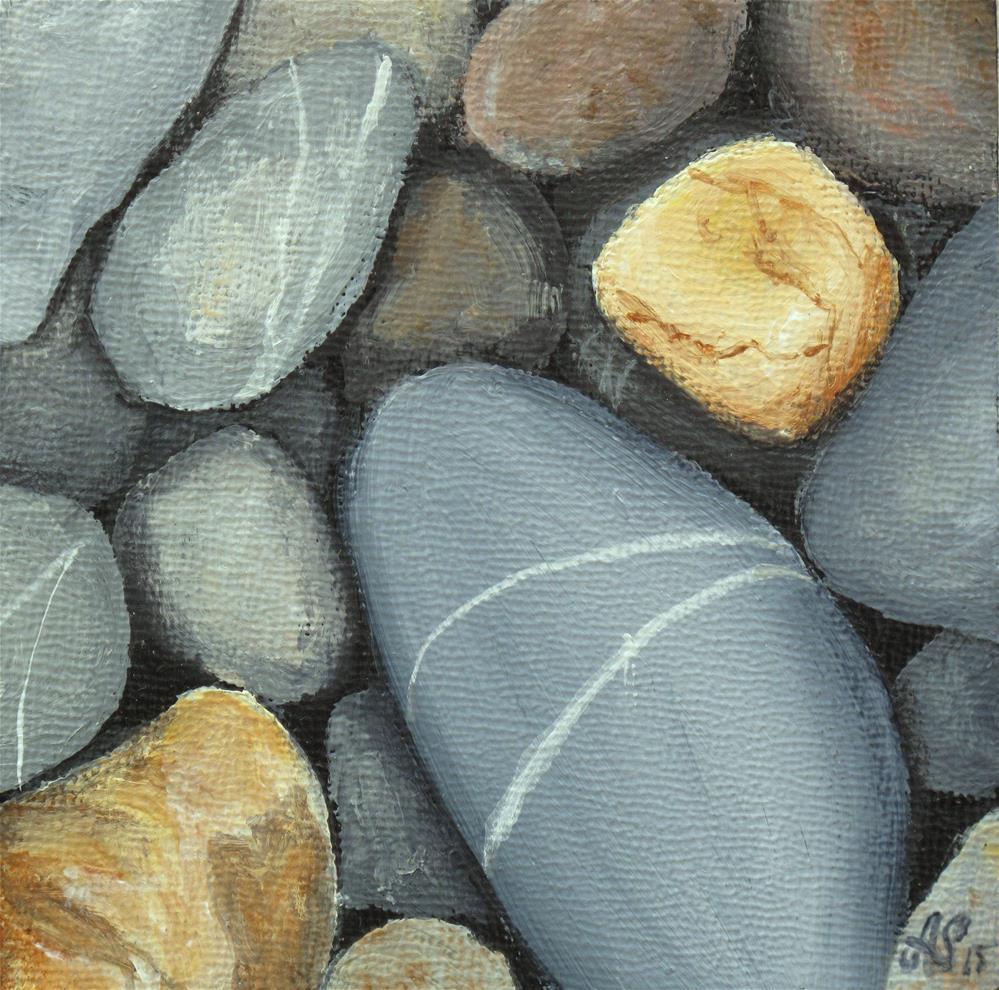 """Stones I"" original fine art by Anna Starkova"