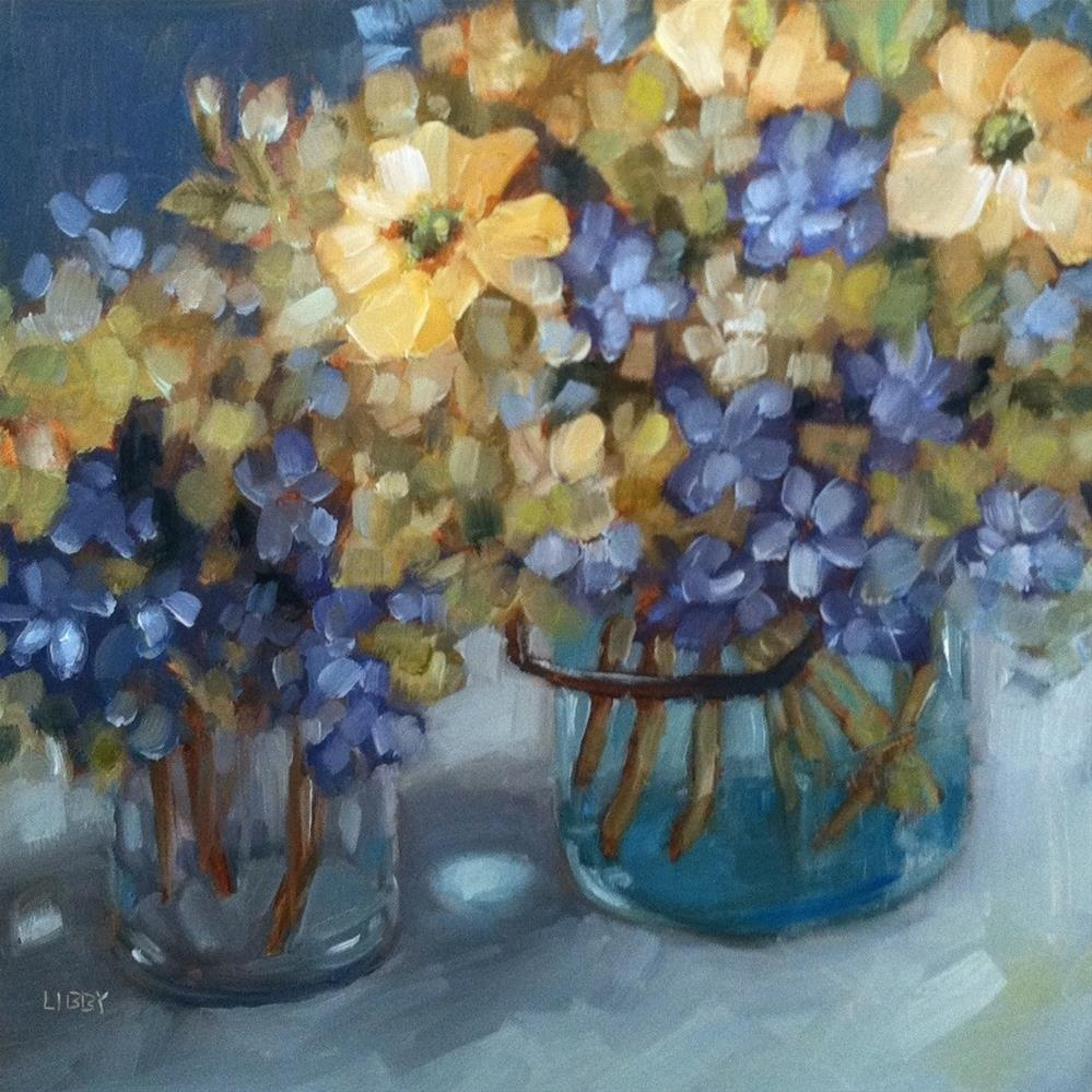 """Old Fashioned Bouquets"" original fine art by Libby Anderson"
