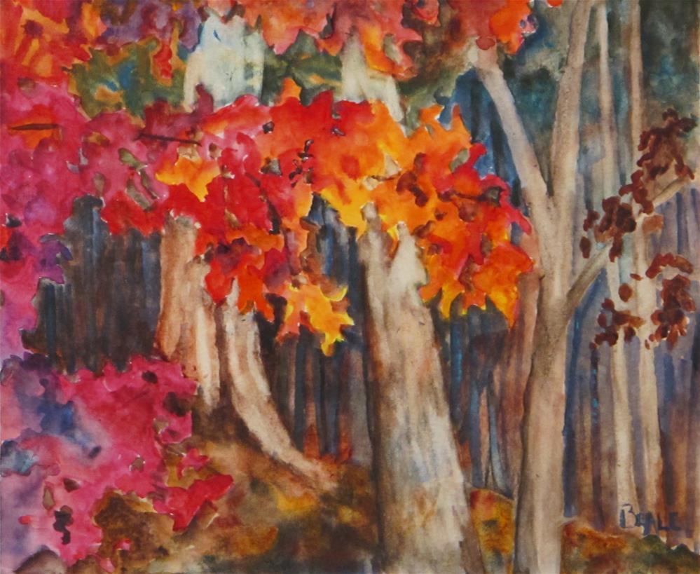 """Autumn Leaves"" original fine art by  David Beale"